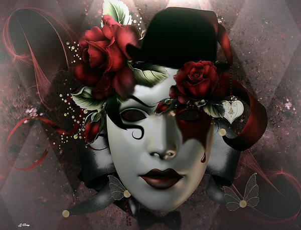 Joyous Mixed Media - Flora Masquerade by G Berry