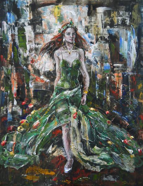 Painting - Flora by Stefano Popovski