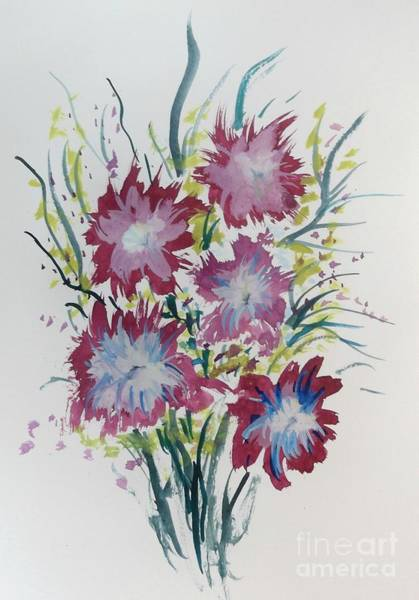 Mixed Media - Floral 5 by David Neace