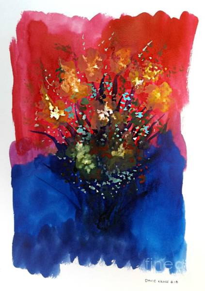 Mixed Media - Floral 8 by David Neace