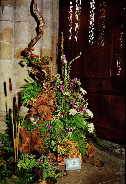 Cartmel Priory Photograph - Floral Art 1 by Peter Jenkins