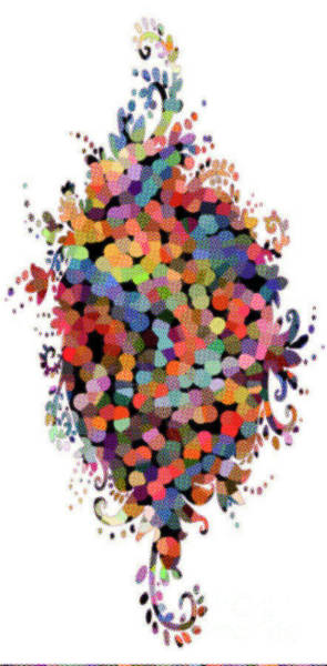 Wall Art - Digital Art - Floral Bouquet Abstract With Dots by Genevieve Esson
