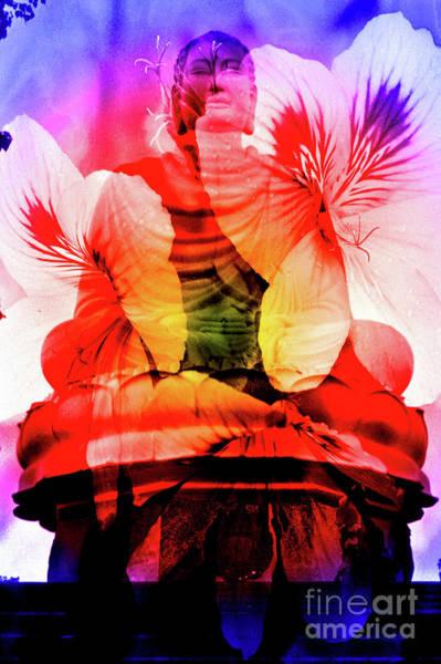 Digital Art - Coral Floral Buddha Sound by Silva Wischeropp
