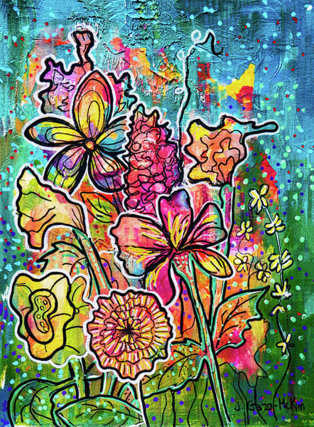 Painting - Floral Creations 2 by Jo-Anne Gazo-McKim