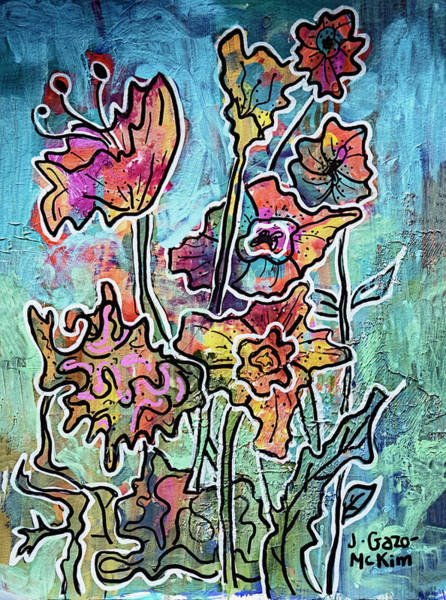 Painting - Floral Creations 3 by Jo-Anne Gazo-McKim