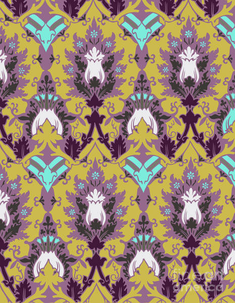 Digital Art - Floral Decorative Pattern by Ariadna De Raadt