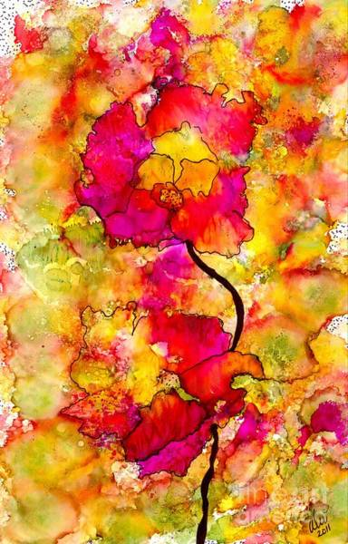 Wall Art - Painting - Floral Duet by Angela L Walker