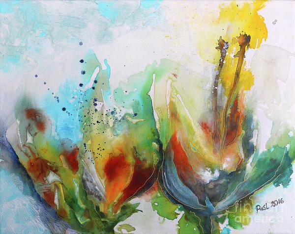 Wall Art - Painting - Floral Fantasy by Jutta Maria Pusl