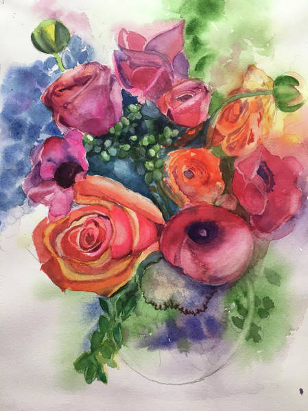 Painting - Floral Fantasy by Lynne Atwood