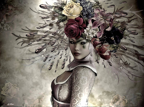 Decorating Mixed Media - Floral Fashion 002 by G Berry