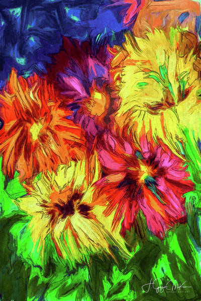Digital Art - Floral Fireworks by Jo-Anne Gazo-McKim
