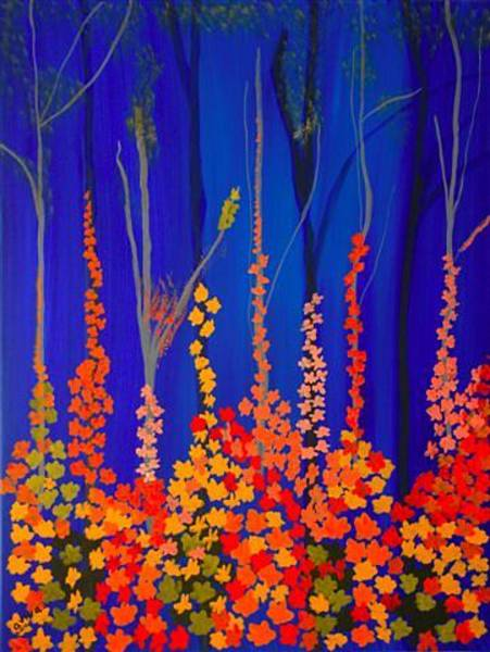Wall Art - Painting - Floral In The Forest by Aviva Moshkovich