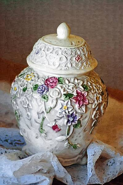 Photograph - Floral Jar by Donna Bentley