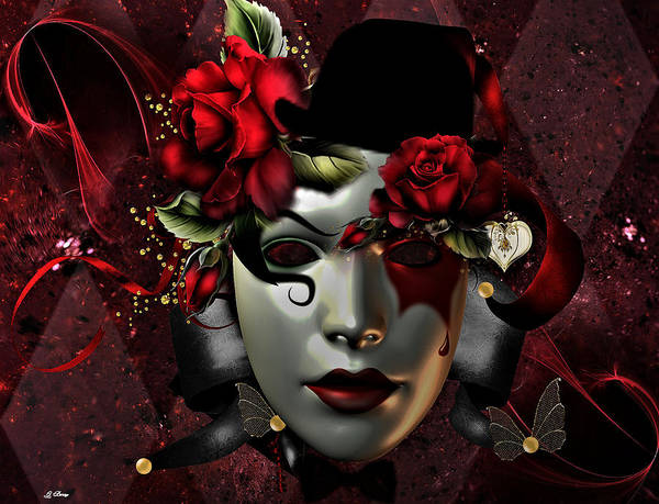 Fat Mixed Media - Floral Masquerade 02 by G Berry
