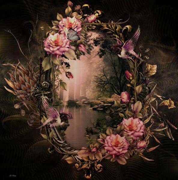 Marijuana Mixed Media - Floral Mirror  by G Berry