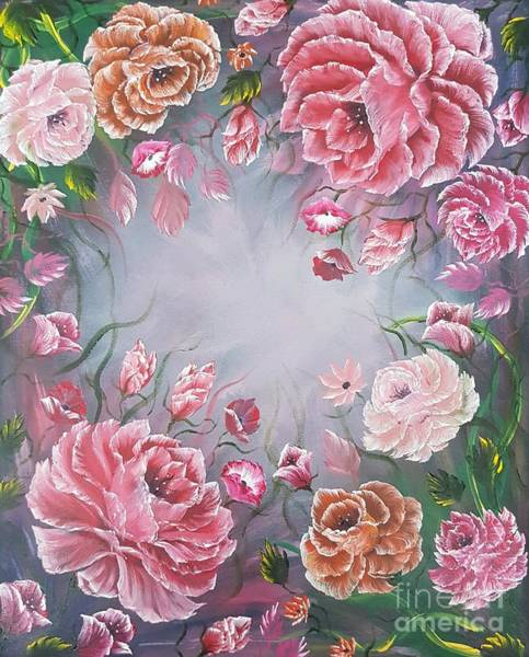 Style Painting - Floral Enchanting Roses by Angela Whitehouse