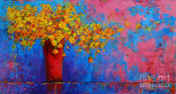Painting - Springs Flowers Modern Impressionist Abstract Floral Palette Knife Work by Patricia Awapara
