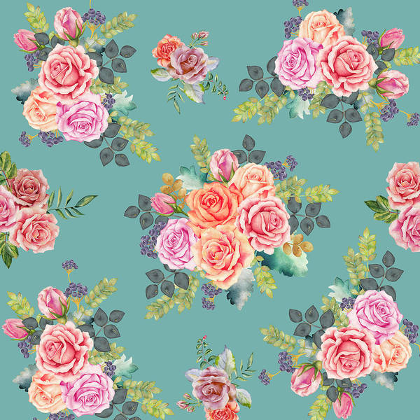 Valentines Digital Art - Floral Pattern 2 by Stanley Wong