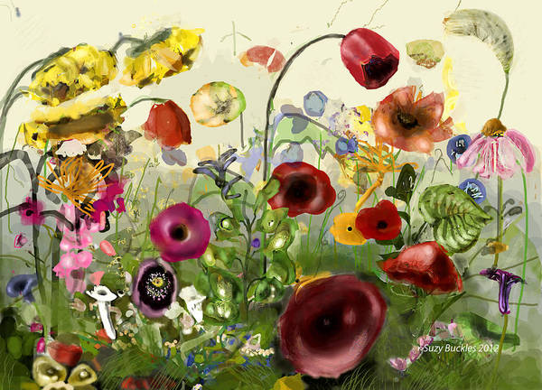 Snapdragons Painting - Floral Profusion by Suzy Buckles