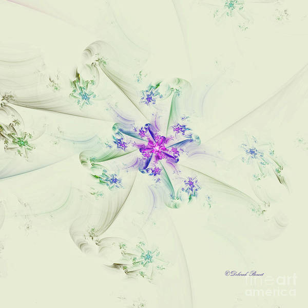 Digital Art - Floral Spiral by Deborah Benoit