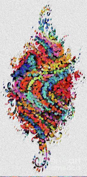 Wall Art - Digital Art - Floral Splash 2 by Genevieve Esson