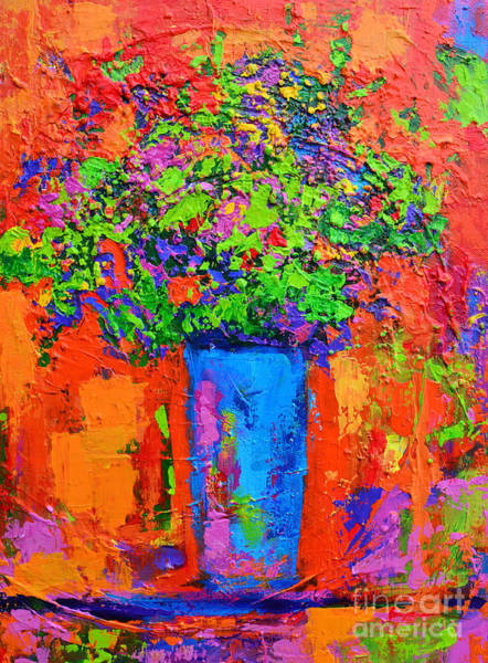 Painting - Floral Still Life Modern Impressionist Abstract Flower Arrangement by Patricia Awapara
