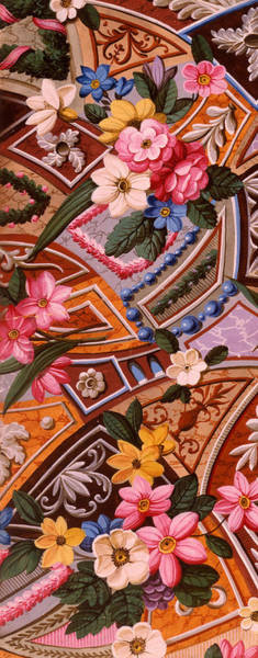 Wall Art - Painting - Floral Textile Design by William Kilburn