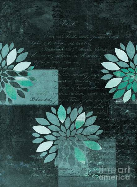 Aqua Digital Art - Floralis - 8181cd by Variance Collections