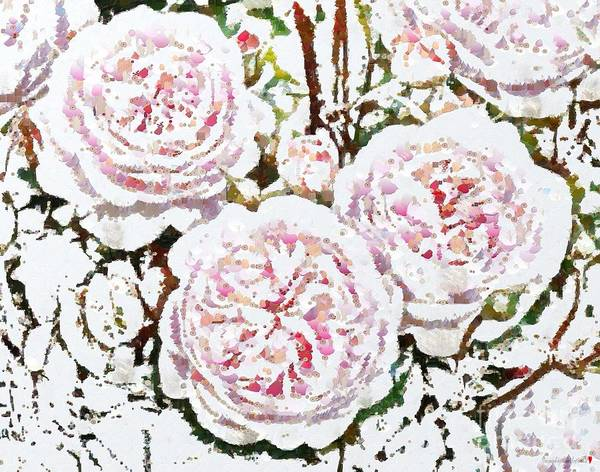 Painting - Florals In Full Bloom Painted In Fragments by Catherine Lott