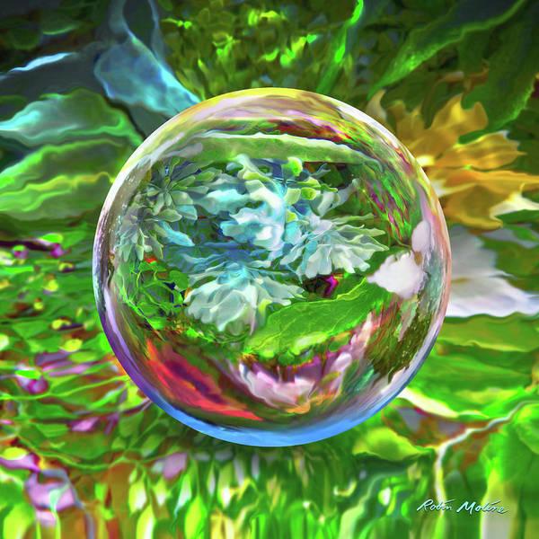 Digital Art - Florascape by Robin Moline