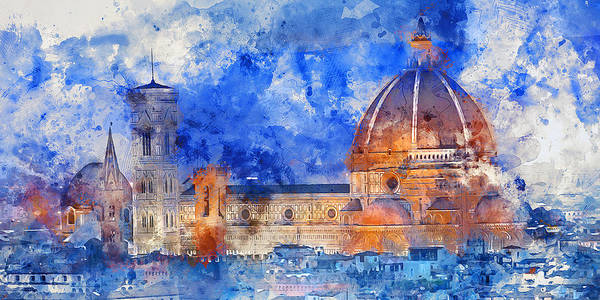 Painting - Florence - 09 by Andrea Mazzocchetti