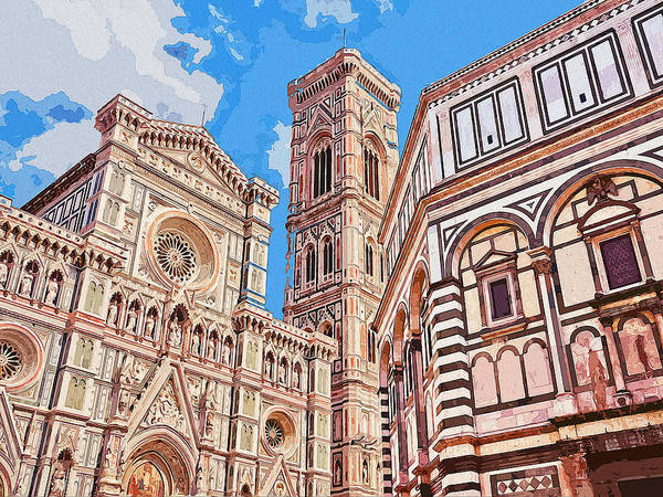 Painting - Florence - 11  by Andrea Mazzocchetti
