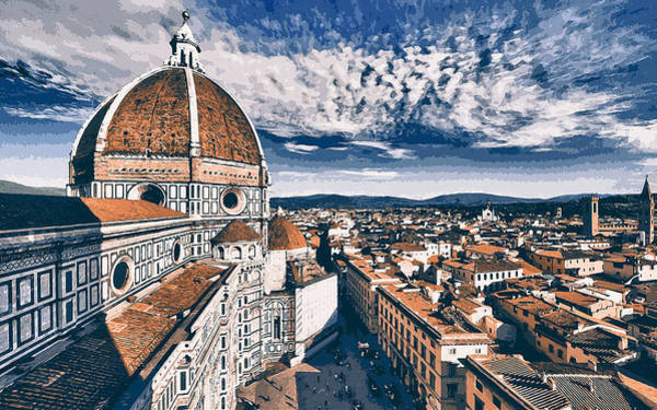 Painting - Florence - 14 by Andrea Mazzocchetti