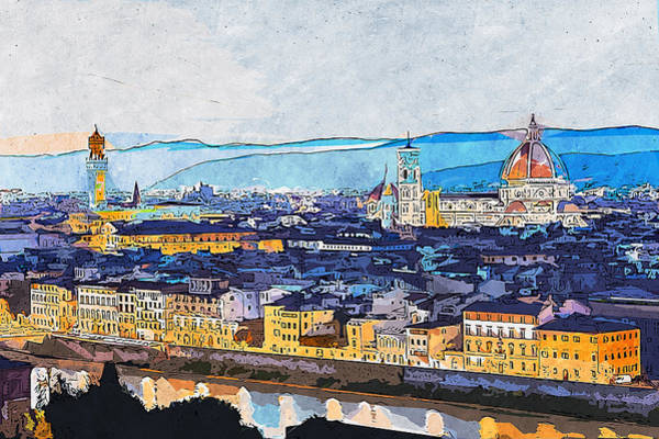 Painting - Florence - 18 by Andrea Mazzocchetti