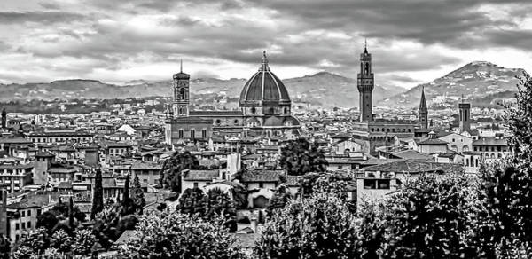 Florence 2 Bw Art Print