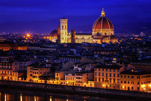 Wall Art - Photograph - Florence At Twilight by Andrew Soundarajan