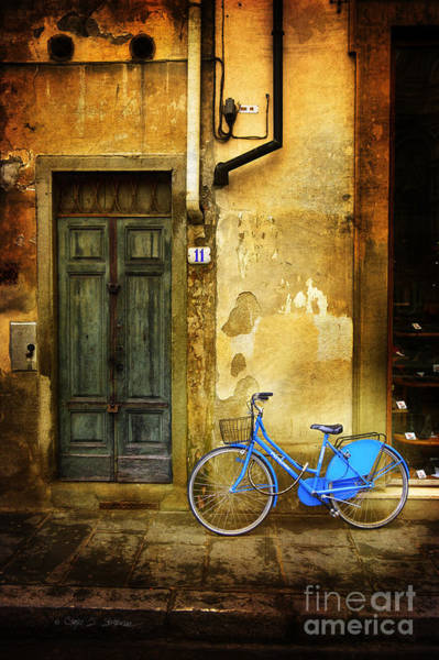 Photograph - Florence Blue Bicycle by Craig J Satterlee
