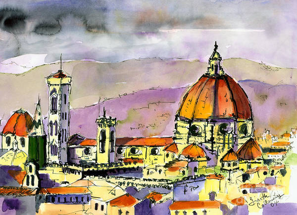 Painting - Florence Cathedral Italy by Ginette Callaway