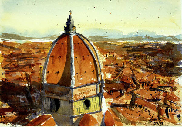 Duomo Di Firenze Wall Art - Painting - Florence Cathedral by James Nyika