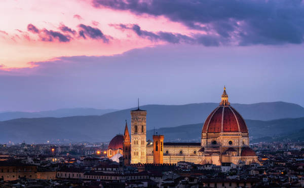 Photograph - Florence Cathedral With Brunelleschi Duomo - Florence, Italy by Nico Trinkhaus