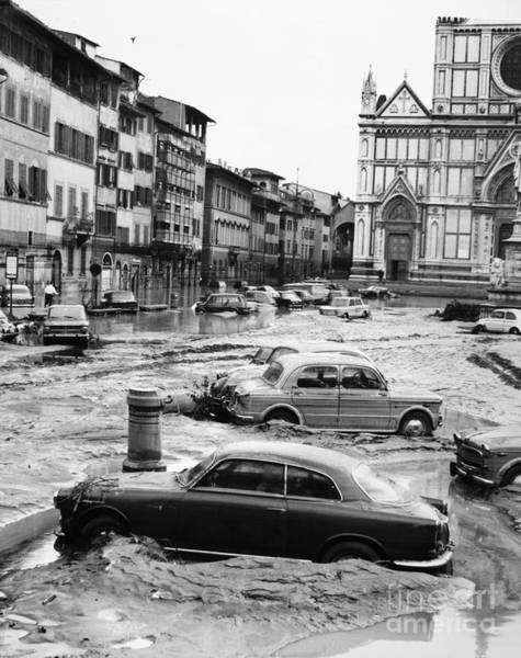 Photograph - Florence: Flood, 1966 by Granger