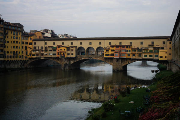 Photograph - Florence Italy - An Autumn Day At Ponte Vecchio by Georgia Mizuleva