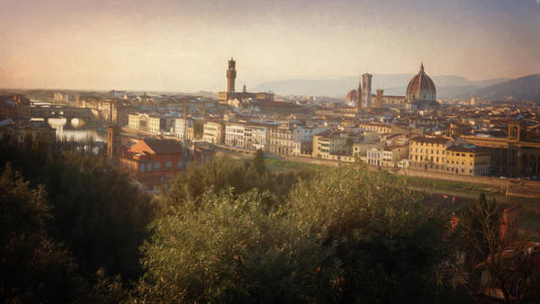 Photograph - Florence Italy Cityscape by Joan Carroll