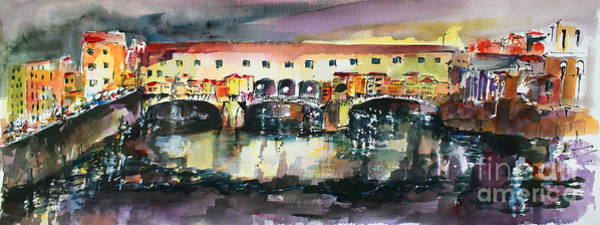 Painting - Florence Italy Ponte Vecchio  by Ginette Callaway