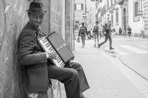 Photograph - Florence Italy Street Performer  by John McGraw