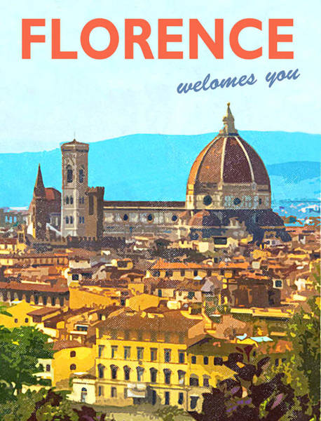 Wall Art - Painting - Florence by Long Shot