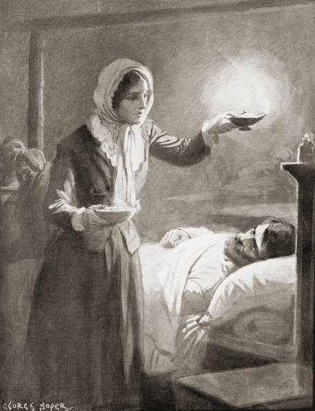 Wall Art - Drawing - Florence Nightingale, 1820 by Vintage Design Pics