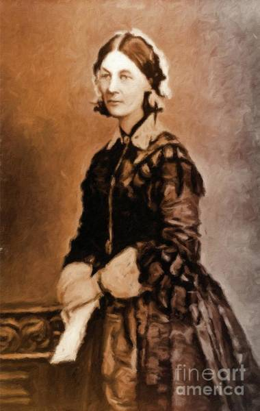 Poetry Painting - Florence Nightingale By Mary Bassett by Mary Bassett