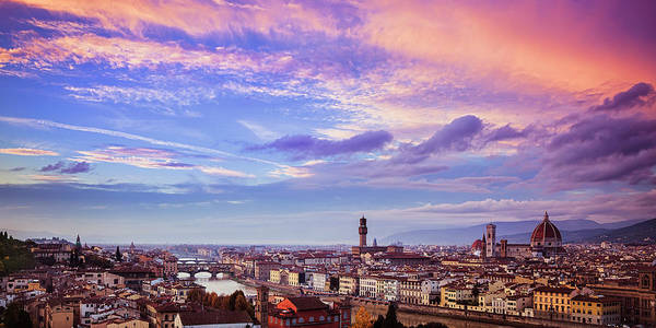 Wall Art - Photograph - Florence Skyline At Sunset by Andrew Soundarajan
