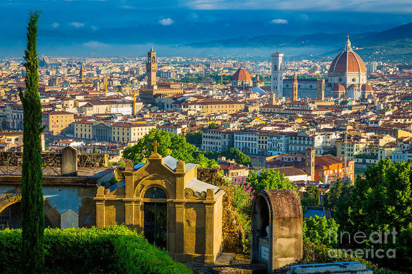 Duomo Photograph - Florentine Vista by Inge Johnsson